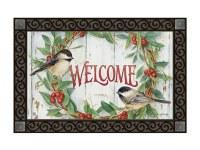Chickadee Wreath Doormat