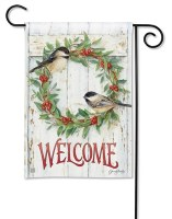 Mini Chickadee Wreath Flag