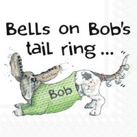 Bells On Bobs Tail Beverage Napkin