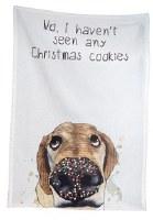 """28"""" x 18"""" Christmas Cookies Dog Tea Towel"""