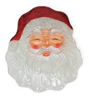 "12"" Santa Face Plate Glass"