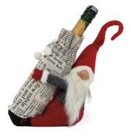 """12"""" Red Gnome Bottle Holder"""