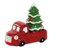 Tree In Red Truck Salt & Pepper Shakers