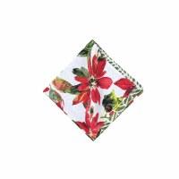 """20"""" Poinsettia Berries Napkin"""