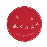 "14"" Round Red Santa Deer Placemat"