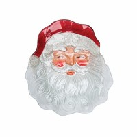 "12"" Glass Santa Face Plate"
