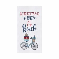 "18"" x 27"" Christmas Beach Bike Kitchen Towel"