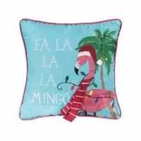 """14"""" Square Fa La La Flamingo Pillow"""
