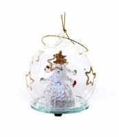"2.7"" LED Glass Tree Ball Ornament"
