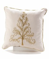 "18"" Square Gold Tree Pillow"