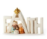 "3"" Faith Holy Family"