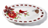 "17"" Oval Cardinal Platter"