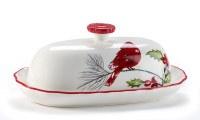 """8"""" Cardinal Butter Dish"""