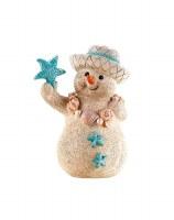 "5"" Sand Snowman With Aqua Starfish"