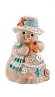 "5"" Sand Snowman With Orange Starfish"