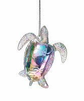 "3"" Iridescent Turtle Acrylic Ornament"