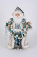 """17"""" LED Blue Coastal Santa"""