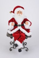"17"" Red Posable Santa"
