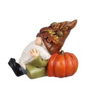 "4"" Fall Gnome In Green Coat Resin"