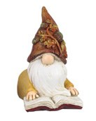 "4"" Fall Gnome In Yellow Coat Resin"