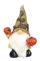 "6"" Yellow Fall Gnome with Pumpkins"