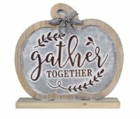 "11"" Gather Together Pumpkin Sign"