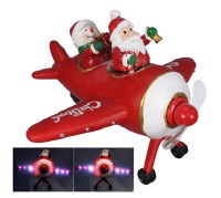 """7"""" LED Santa Plane"""