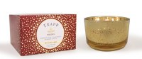 16 oz 3-Wick Holiday Gold Glass Candle Jar