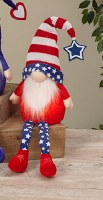 "26"" LED Red Shoes On Red, White and Blue Gnome"