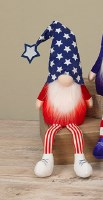 "26"" LED White Shoes On Red, White and Blue Gnome"