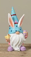 "4"" Blue Hat Easter Gnome Resin"