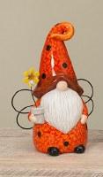 "10"" Ceramic Lady Bug Gnome"