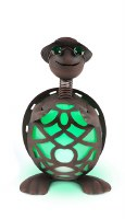 """14"""" Solar LED Green and Rust Turtle"""
