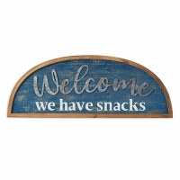 "31"" Welcome Snacks Plaque"