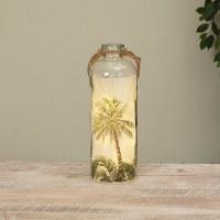 """12"""" LED Palm Glass Jar"""