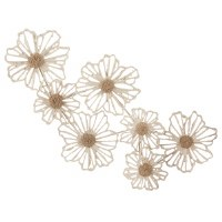 """37.5"""" 7 Paper Pulp Flowers Wall Decor"""
