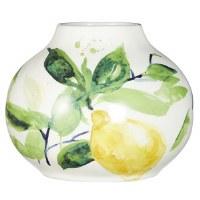 "6.5"" Ceramic Lemon Vase"