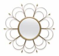 """24"""" Round Gold Loop Mirror"""