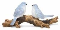 "4"" Two Light Blue Birds On Branch"