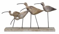 "7"" Five Shorebirds On Plank"