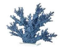 """19"""" Blue Polyresin Faux Coral on Acrylic Base"""