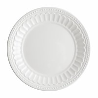 "11"" Round White Melamine Chateau Plate"