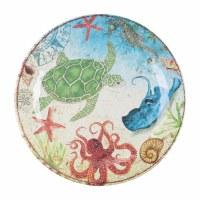 """11"""" Round Sea Turtle Melamine Plate"""