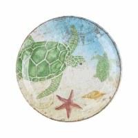 """9"""" Round Sea Turtle Melamine Plate"""