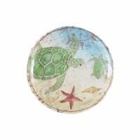 """6"""" Round Sea Turtle Melamine Plate"""