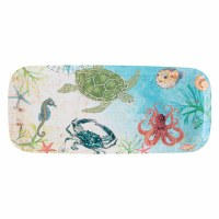 "7"" x 15"" Sealife Melamine Tray"