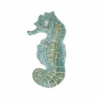 "12"" Blue and Green Seahorse Plate"