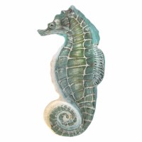 "19"" Blue and Green Seahorse Serving Platter"