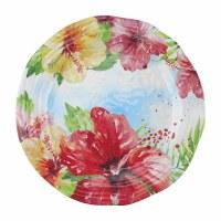 """11"""" Round Hibiscus Melamine Plate"""