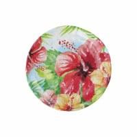 """6"""" Round Hibiscus Melamine Plate"""